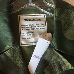 Zadig & Voltaire Jackets & Coats - Green Camo Jacket